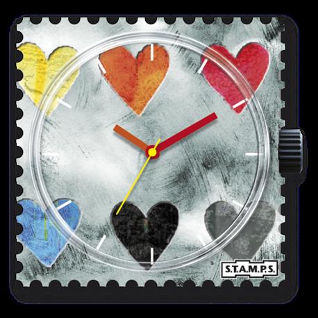 Montre Stamps cadran de montre collecting hearts
