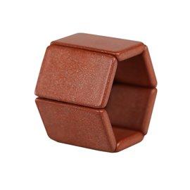 Bracelet élastique de montre Stamps belta marron russet