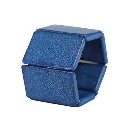 Bracelet élastique de montre Stamps belta tetra bleu
