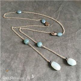 Collier pierre semie précieuse créateur Catherine Foschia