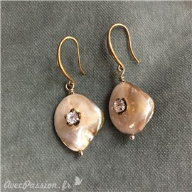 Boucle d'oreille pierre semie précieuse créateur Catherine Foschia