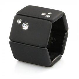 Bracelet élastique de montre Stamps belta noir diamond
