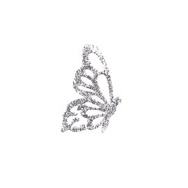 Bijou de peau Karnyx fidji papillon tatou argent