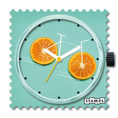 STAMPS Cadran de montre Orange Bike