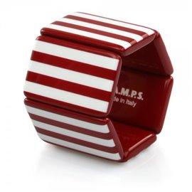Bracelet de montre Stamps Belta Rayures Rouge & Blanc