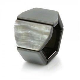 Bracelet de montre Stamps Belta Y Pearl, Silver
