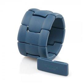 Bracelet élastique de montre Stamps belta alpha bleu pétrole