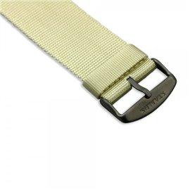 Bracelet de montre Stamps beige sport effet tissu
