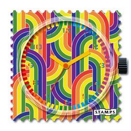 STAMPS Cadran de montre Retro Rainbow
