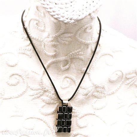 collier-fantaisie-silverlake-lien-noir-50-cm-medaillon-en-arge-bijou-createur-ref-00147