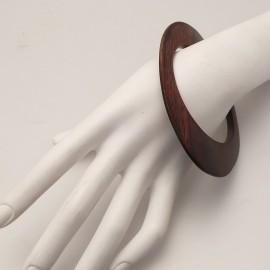 Bracelet fantaisie jonc bois rigide