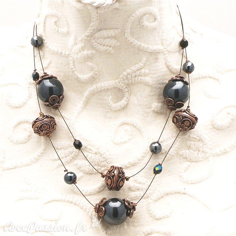 collier perle cuivre