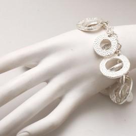 bracelet fantaisie argent rond martelé créateur Il était une fois