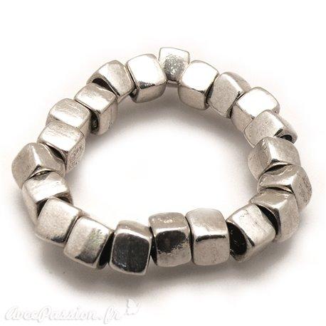 Bracelet fantaisie Ubu argent élastique cubes