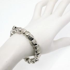 Bracelet fantaisie Ubu argent élastique cubes 0.6